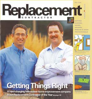 Replacement Contractor of the Year Magazine Cover