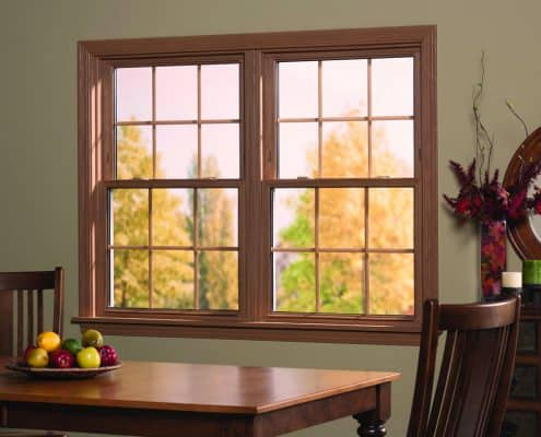 Mulled Double Hung Windows with Grids