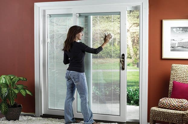 ... White Sliding Patio Door