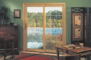 Patio Door Golden Oak and V Groove