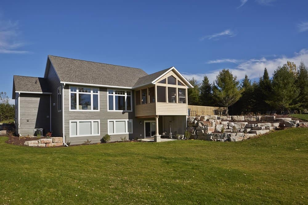 This House Features Siding In Diamond Kote Seal Entry