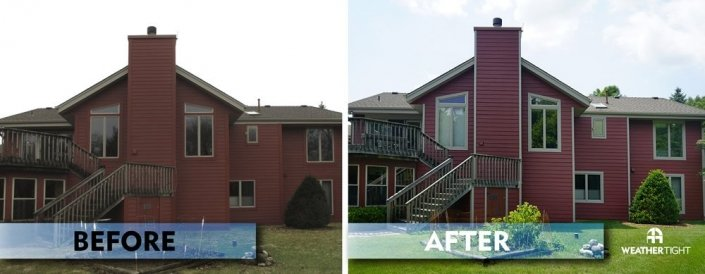 New Engineered Wood Siding & Windows Before & After