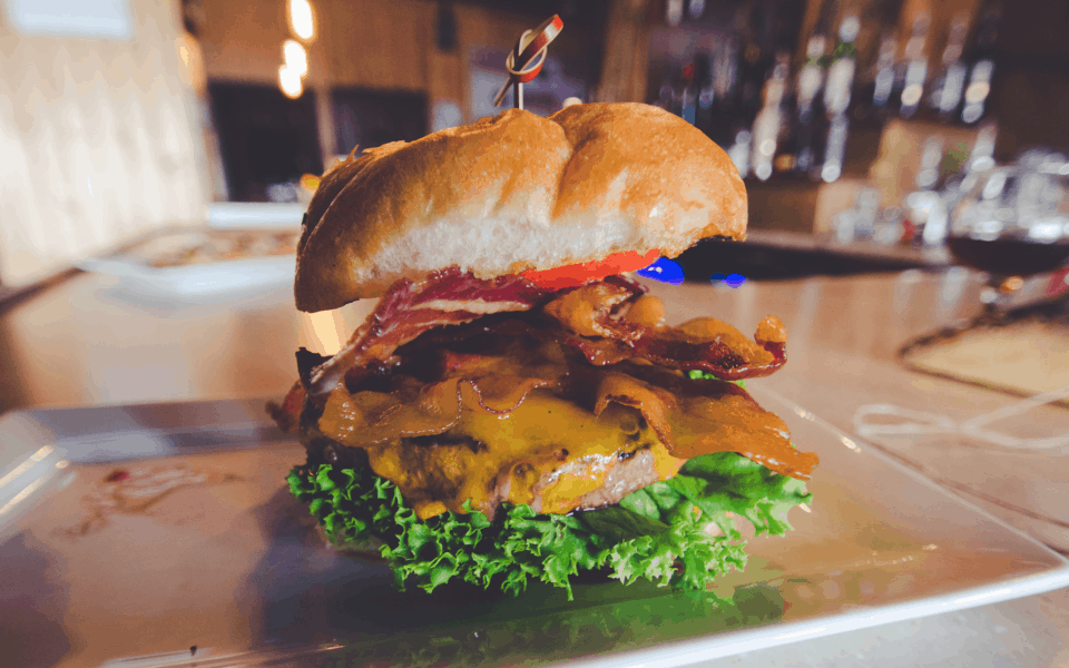 Saloon on Calhoun -Bacon Cheese Burger!