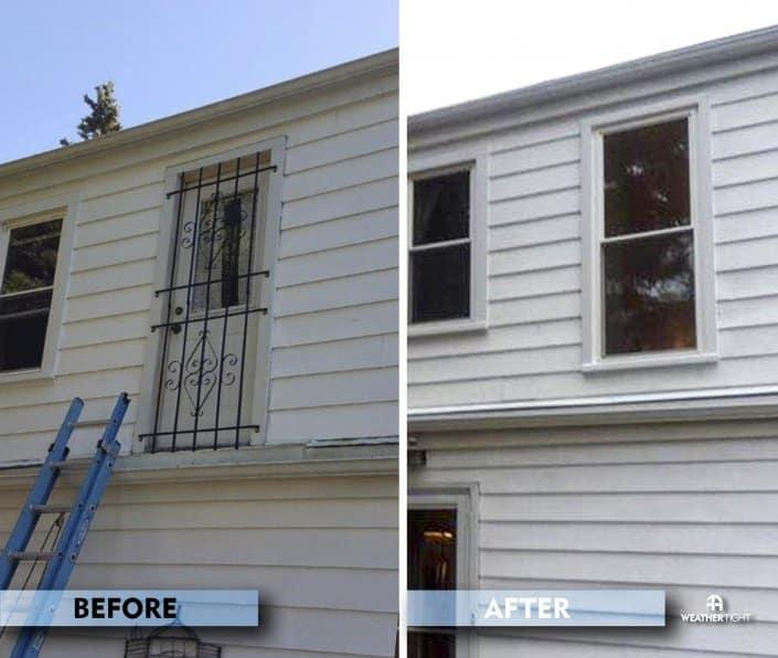 Before & After Door To Window Conversion
