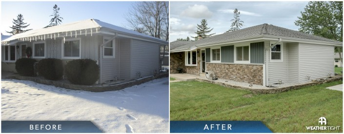 Stone Siding Before & After