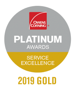 Owens Corning Gold Level Product Excellence Award