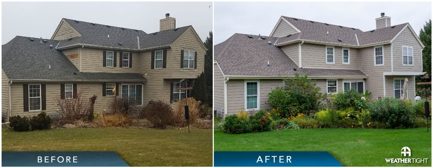 Siding, Windows, & Roofing Before & After