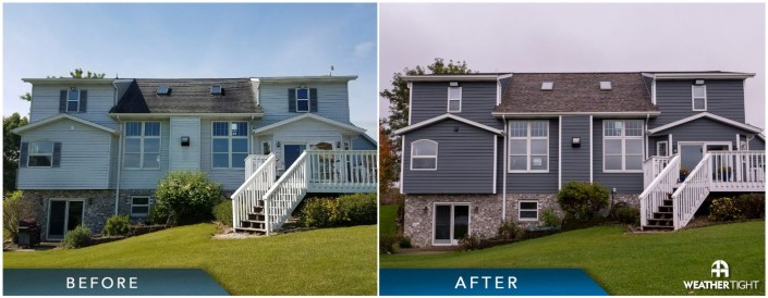 Siding & Roofing Project Before & After