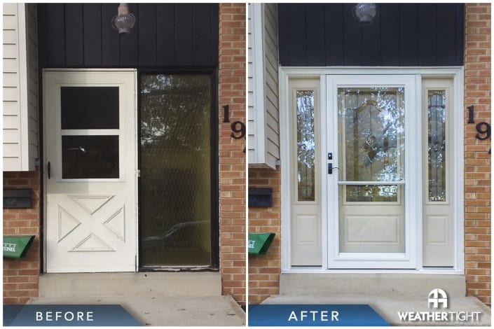 Entry Door Before & After