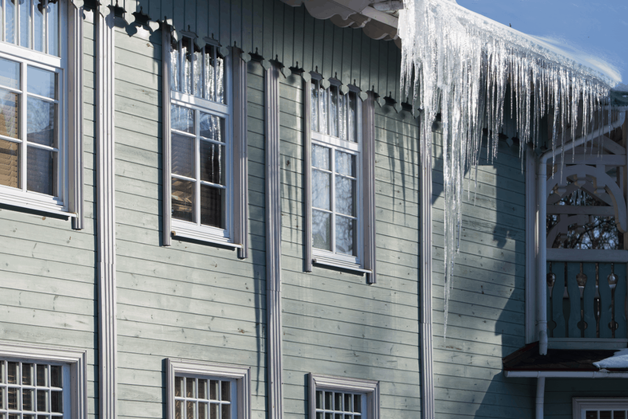 Large icicles hanging off the roof and gutters of your home could indicate a ventilation problem