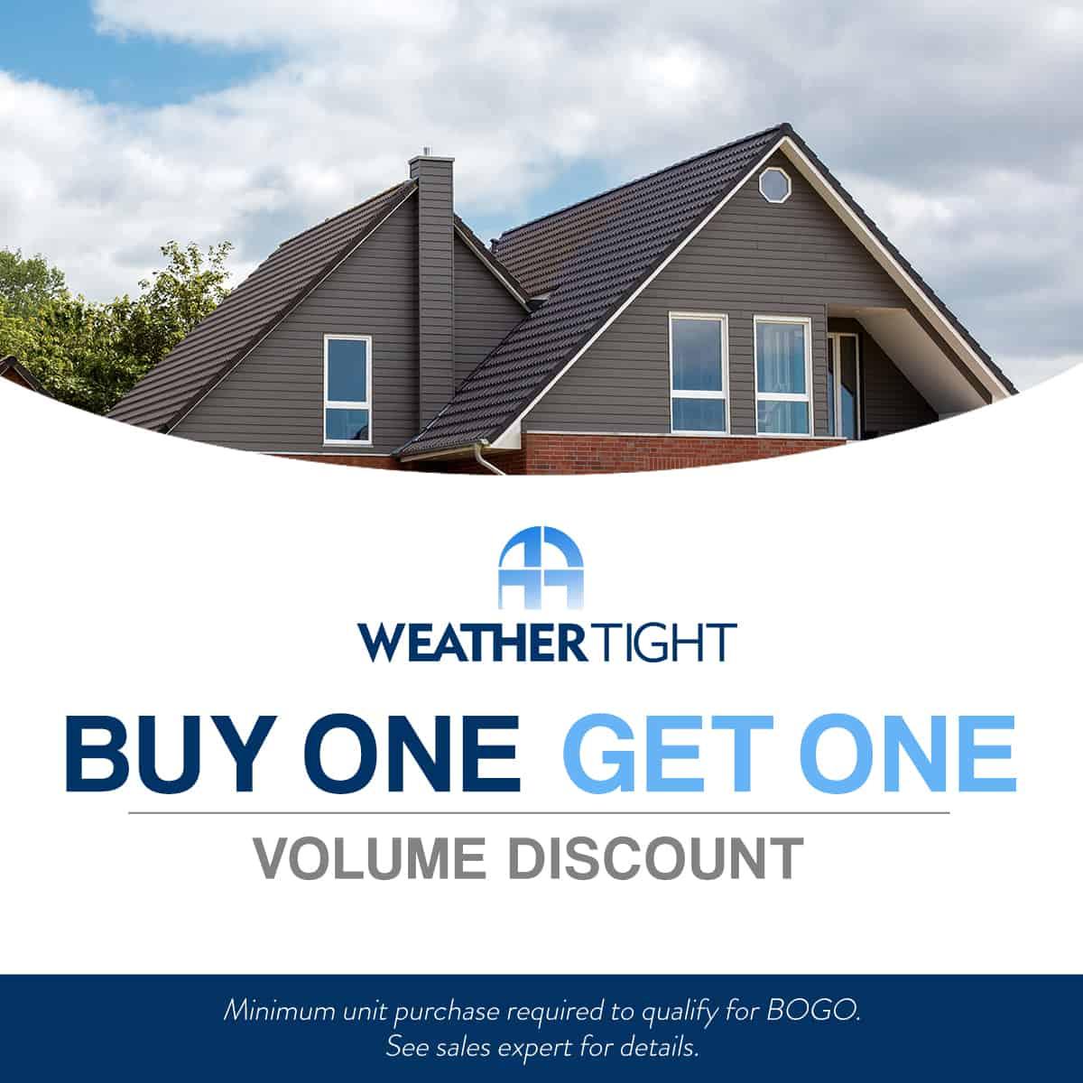 BOGO Volume Discount On Windows, Siding, Roofing, & Doors